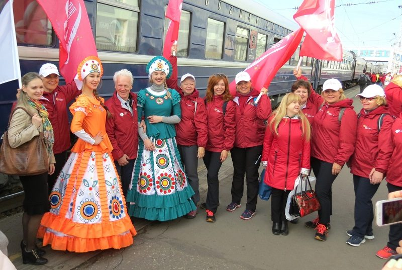 В Кирове на железнодорожном вокзале встретили необычный состав