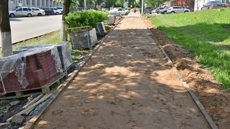 В центре Кирова на тротуарах будет выложена брусчатка
