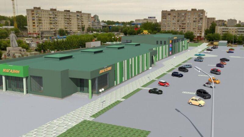 Показан проект торгового комплекса, который появится на месте Коневского рынка
