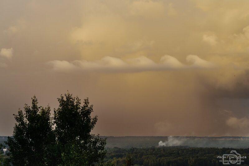 В Кировской области замечены необычные облака