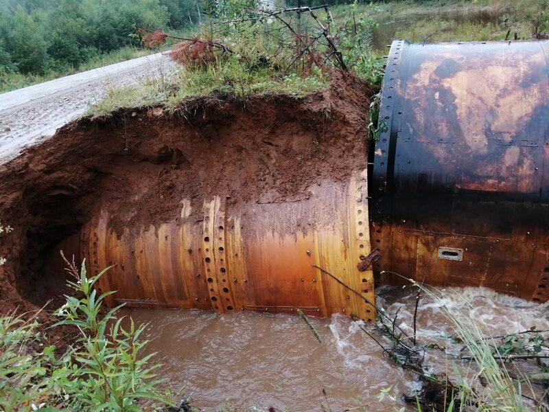 В регионе ливень разрушил переправы и подтопил медучреждение