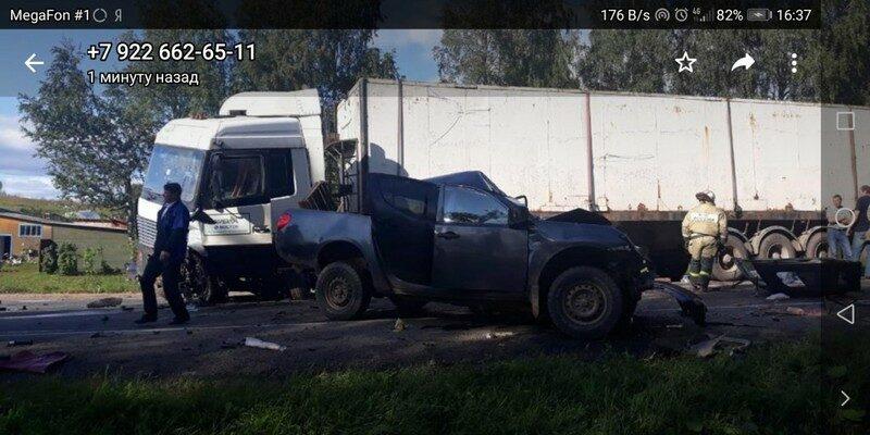 Страшная авария на трассе Киров - Слободской: пробка растянулась на несколько километров