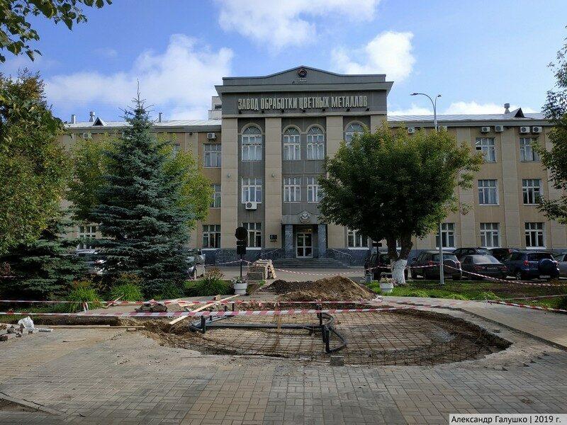 В Кирове началось возведение нового фонтана