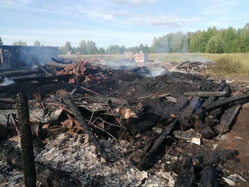 В Даровском районе в пожаре погиб 3-летний ребенок