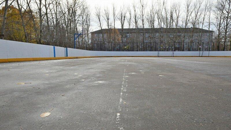 Хоккейная коробка у 57-й школы полностью реконструирована (+ФОТО)