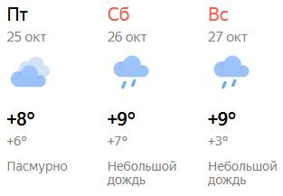 В выходные кировчан ждет небольшой дождь