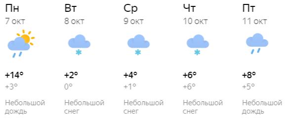 В середине недели в Кирове пройдет небольшой снег