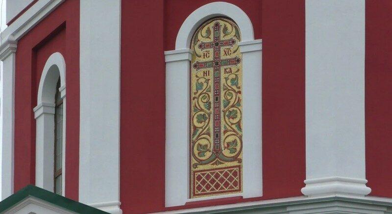 На Спасском соборе появилась мозаика из натуральных камней с элементами позолоты