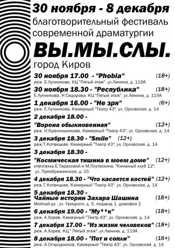 В Кирове прочитают современные пьесы авторов со всей России