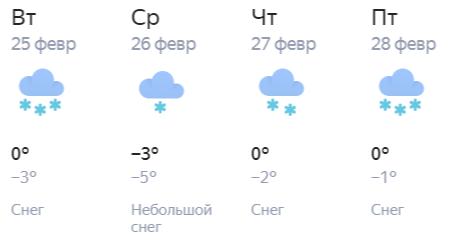 Тепло и снежно