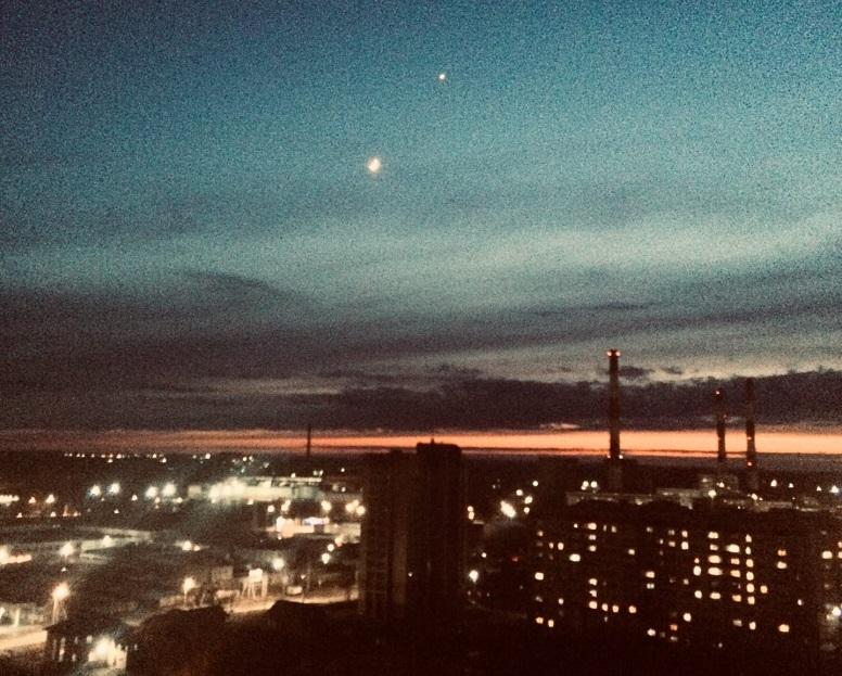 Жители Кировской области запечатлели встречу небесных тел (+ФОТО)