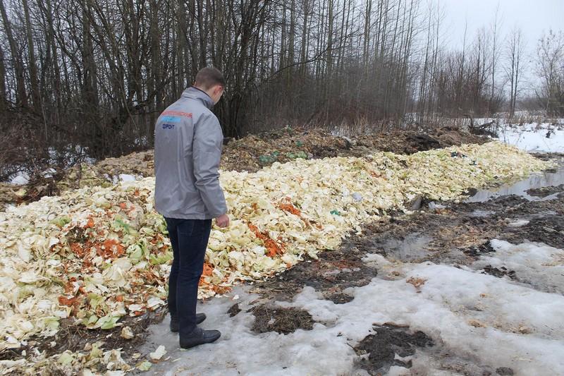В Истобенске обнаружена очередная свалка пищевых отходов