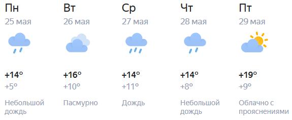 О том, какая погода будет в последние майские дни в Кирове