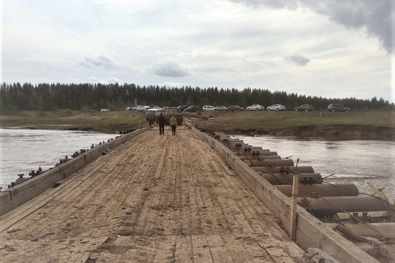 pontonnyy most afanasevskiy rayon Открыто движение транспорта через наплавные мосты в Афанасьевском районе