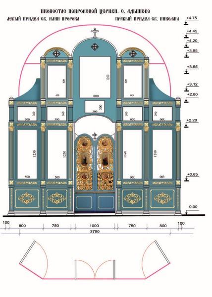 В храме села Адышево установят иконостас