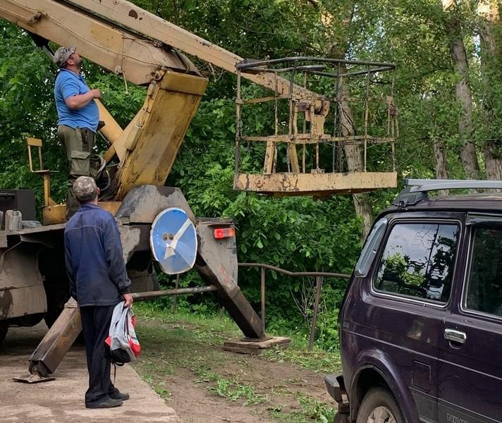 В Кировской области с помощью спецтехники спасли кота