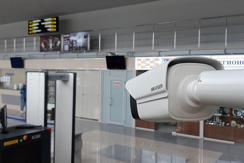 В Победилово у пассажиров автоматически измеряется температура тела