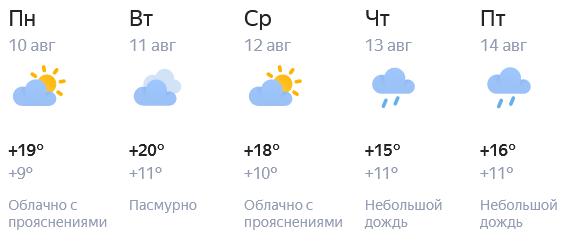 В конце рабочей недели в Кирове будет прохладно