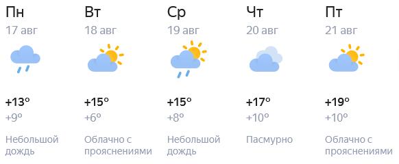 Рабочая неделя в Кирове будет прохладной