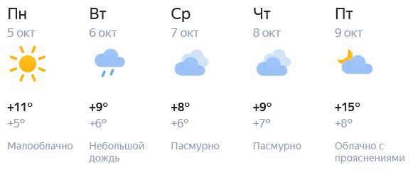 Теплые дни в Кирове заканчиваются