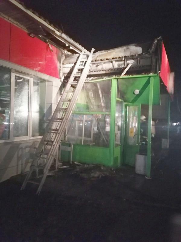 На трассе Киров - Слободской произошёл пожар