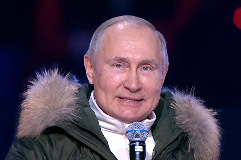 putin Владимир Путин поздравил россиян с семилетием возвращения Крыма