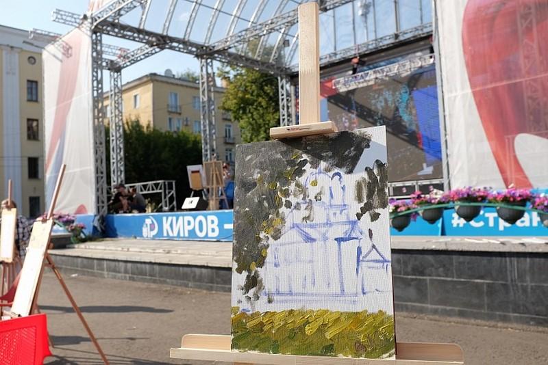 Игорь Васильев нарисовал на Театральной площади Спасский собор