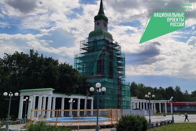 В Слободском отремонтировали фонтан и колоннаду на главной площади